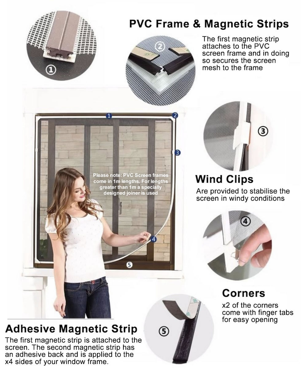 best diy window magnetic flyscreen supplier